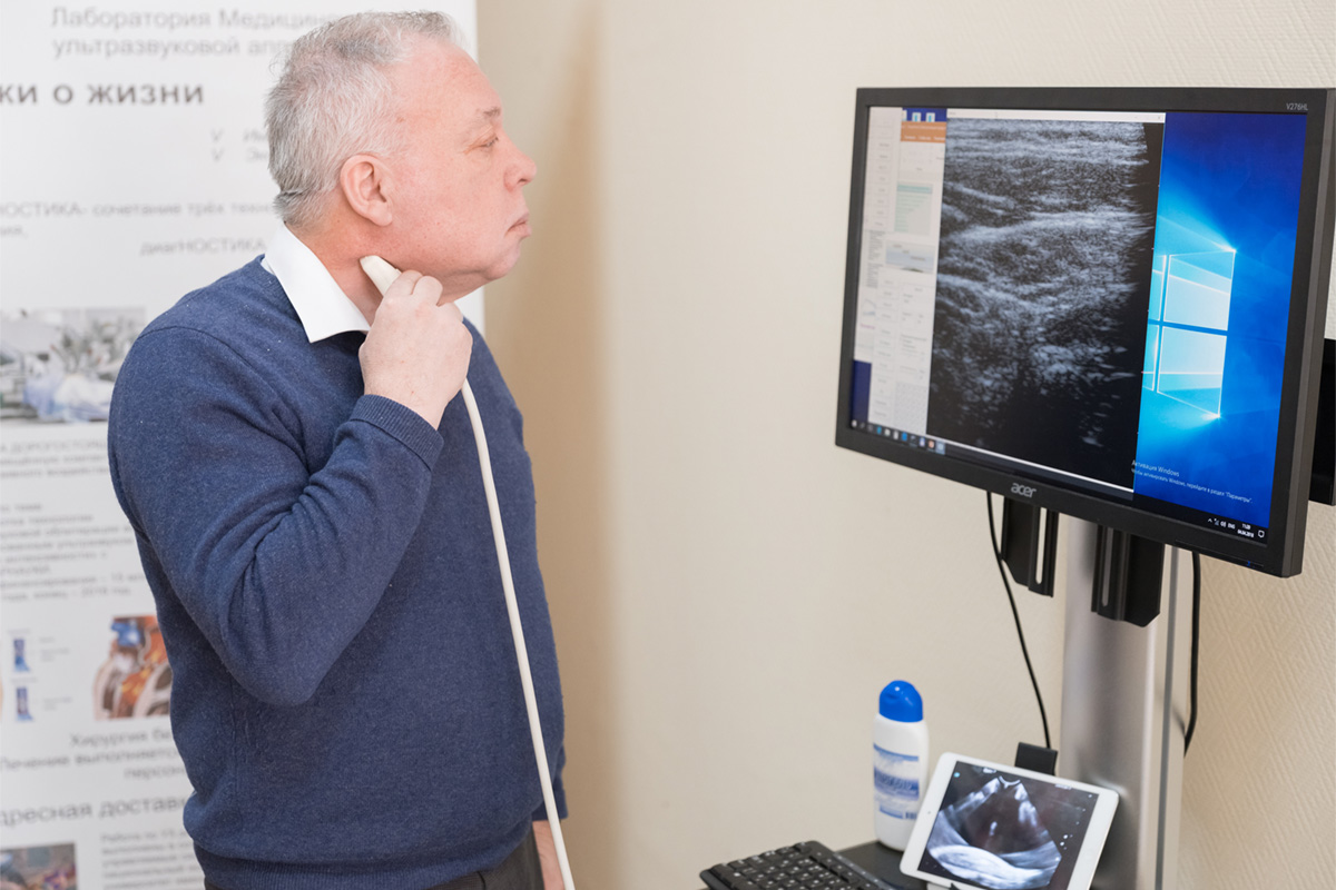 Russian scientists developed a unique equipment for ultrasound examination (Ultrasound mobile)